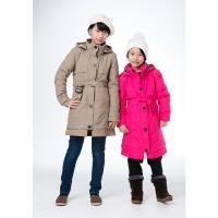 【JORDON 橋登】女童防水防風GORE-TEX外套+羽絨兩件式長大衣贈兒童刷毛帽/羊毛襪(1202)