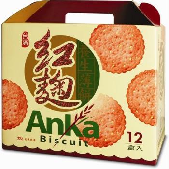 台酒TTL 紅麴養生薄餅(12盒/箱)