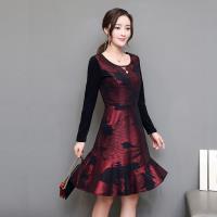Jisen-時尚主旋律小蓬裙洋裝