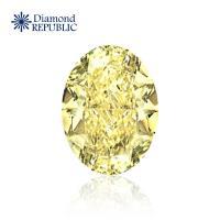 【鑽石共和國】GIA橢圓形裸鑽 0.70克拉 S-T / I2 (近黃彩鑽)