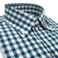 GIBBON 精紡格紋長袖襯衫‧藍綠