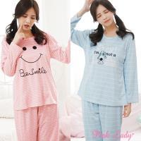 PINK LADY 條紋棉柔長袖成套睡衣 2套組 (2831-3+3811)
