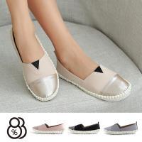 【88%】休閒鞋-MIT台灣製純色休閒鞋頭銀色拼接百搭舒適懶人鞋 休閒鞋