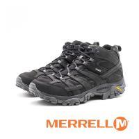 MERRELL MOAB 2 SMOOTH MID GORE-TEX®登山鞋/郊山鞋/黃金大底健走 男鞋-黑(另有咖)
