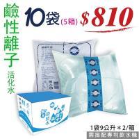 奇蹟水-鹼性離子活化水- 專利無菌袋裝水10袋(5箱)