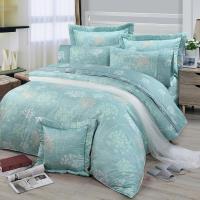FITNESS 精梳棉加大七件式床罩組-海蒂(綠)