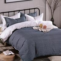 (Indian)柔絲絨雙人四件式印花兩用被床包組- 簡約