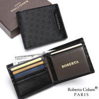 Roberta Colum - 尊爵頭層牛皮12卡2照可拆式左右翻短夾