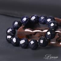 DINA JEWELRY蒂娜珠寶  刻面藍砂石 造型串珠手鍊 (HS6335)