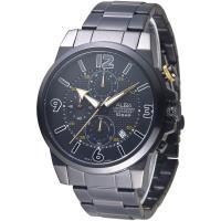 ALBA 極速賽車儀錶盤三眼計時男錶-全IP黑(AM3363X1)/38mm