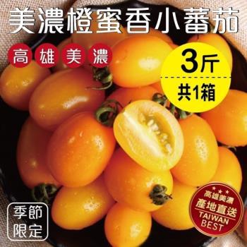 果物樂園-美濃人氣橙蜜香小番茄(3斤±10%)