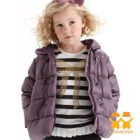 LOVEDO-艾唯多童裝 淡雅甜心 連帽保暖鋪棉外套(紫) J1102308