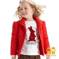 LOVEDO-艾唯多童裝 法式魅力 保暖鋪棉外套(紅) J1102301