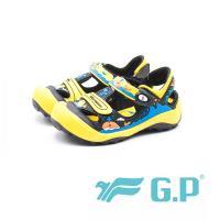 【G.P】兒童磁扣護趾涼鞋 童鞋-黃(另有藍綠、桃粉)