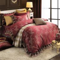 HOYA璀璨金奢 加大八件式蕾絲緹花兩用被床罩組(贈一被兩枕)-型(網)