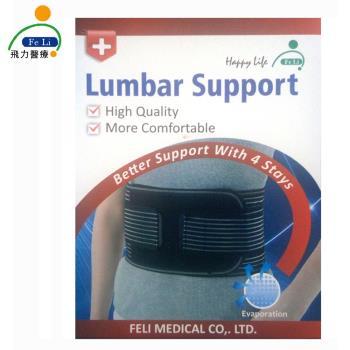 【Fe Li 飛力醫療】HA系列 專業6.5吋竹碳護腰-加強型(H01)