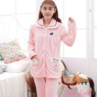 Pink Lady 甜美小兔保暖法蘭絨排扣成套睡衣 (8933)