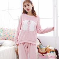 PINK LADY 可愛兔兔保暖法蘭絨成套睡衣 (056)