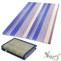 日式刮青蓆-藍海繁星純棉床墊-雙人6x6尺
