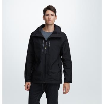 【FOX FRIEND 狐友】休閒男款GORE-TEX+羽絨+刷毛 三件式外套(1089T)