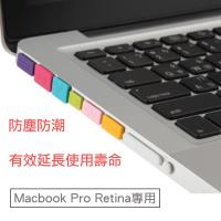 Apple Macbook Pro Retina專用防塵塞12件套組(透明)