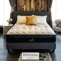 【obis】Horizon時尚繽紛雙人7尺2件式床組房間組(床頭+床底)[雙人特大6×7尺]