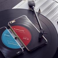 【HeadphoneDog】立體唱片紋路耐摔手機殼/保護殼-經典藍