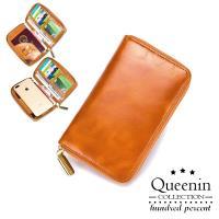 DF Flor Eden -真皮RFID防盜多功能大容量手拿包手機包-共2色