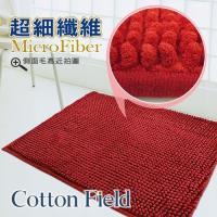 棉花田 荳荳 超細纖維吸水防滑踏墊-紅色(二件組)