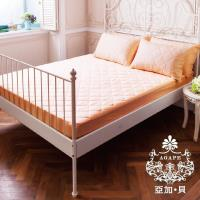 AGAPE亞加‧貝  MIT台灣精製-亮麗膚- 3M防潑水專利防蹣抗菌床包式保潔墊 -標準雙人5x6.2尺 150x186公分