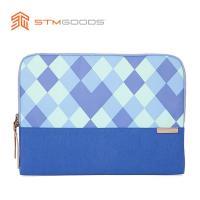 澳洲【STM】Grace Sleeve 15吋 時尚菱格紋筆電內袋 / 防震包 (藍)