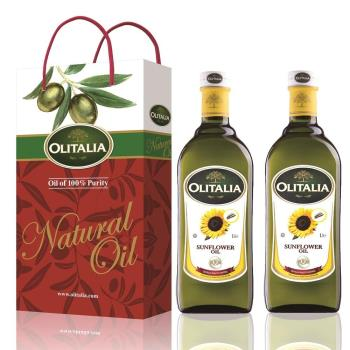 Olitalia奧利塔-葵花油禮盒1組(2瓶葵花油/盒);再送1組葵花油禮盒(1000ML/瓶;2瓶葵花油/盒)