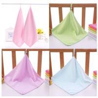 【粉嫩Baby】可掛式小方巾 毛巾 口水巾  (10入組)顏色隨機