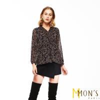 MONS法式優雅浪漫印花上衣