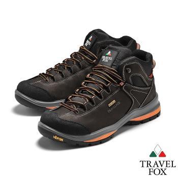 TRAVEL FOX(男) SPOTEX歐系登山系列 牛巴戈防震禦寒運動登山鞋 - 朵霞灰