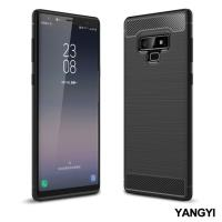 YANGYI揚邑-Samsung Galaxy Note 9 6.4吋 碳纖維拉絲紋軟殼散熱防震抗摔手機殼