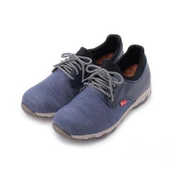 ZOBR 機能飛織休閒運動鞋 藍紋 DD154 男鞋 鞋全家福