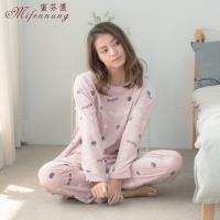 【MFN 蜜芬儂】貓咪甜心居家保暖超柔絨睡衣(2色)