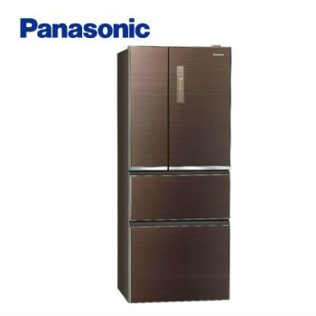 送商品卡吸濕毯★Panasonic國際牌500公升一級能效四門變頻冰箱NR-D500NHGS-T (庫)