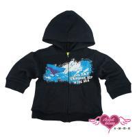 天使霓裳 魟魚遨遊 兒童童裝保暖連帽外套(黑) 106341