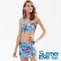 夏之戀SUMMERLOVE 大女短版三件式泳衣E18706