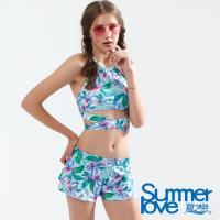 夏之戀SUMMERLOVE 大女短版三件式泳衣E18704