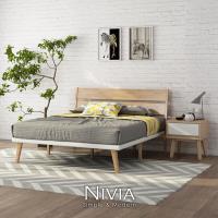 【obis】Nivia北歐實木雙人5尺床架用(150cm×186cm床墊)