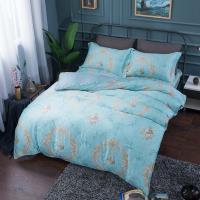 夢工場 似雲織錦天絲四件式兩用被床包-雙人