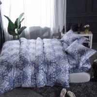 夢工場 浪漫悠然天絲四件式兩用被床包-加大