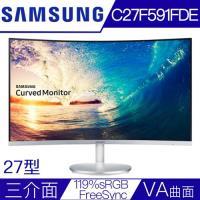 SAMSUNG三星 C27F591FDE 27型VA曲面119%sRGB低藍光電競液晶螢幕