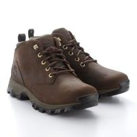 Timberland男款深棕色 Full-Grain戶外中筒靴A1VP2D71