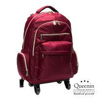 DF Queenin流行 - 大寬口可拆式360度滾輪休閒拉桿後背包(大) - 共3色
