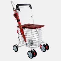 第二代-安心生活- 日式EZGO休閒購物推車 (紅格)