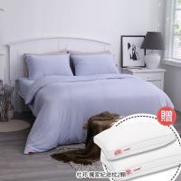 美國 杜邦™ ComforMax™機能性床包組 - 雙人加大/海洋藍 贈:杜邦獨家紀念款枕/2入